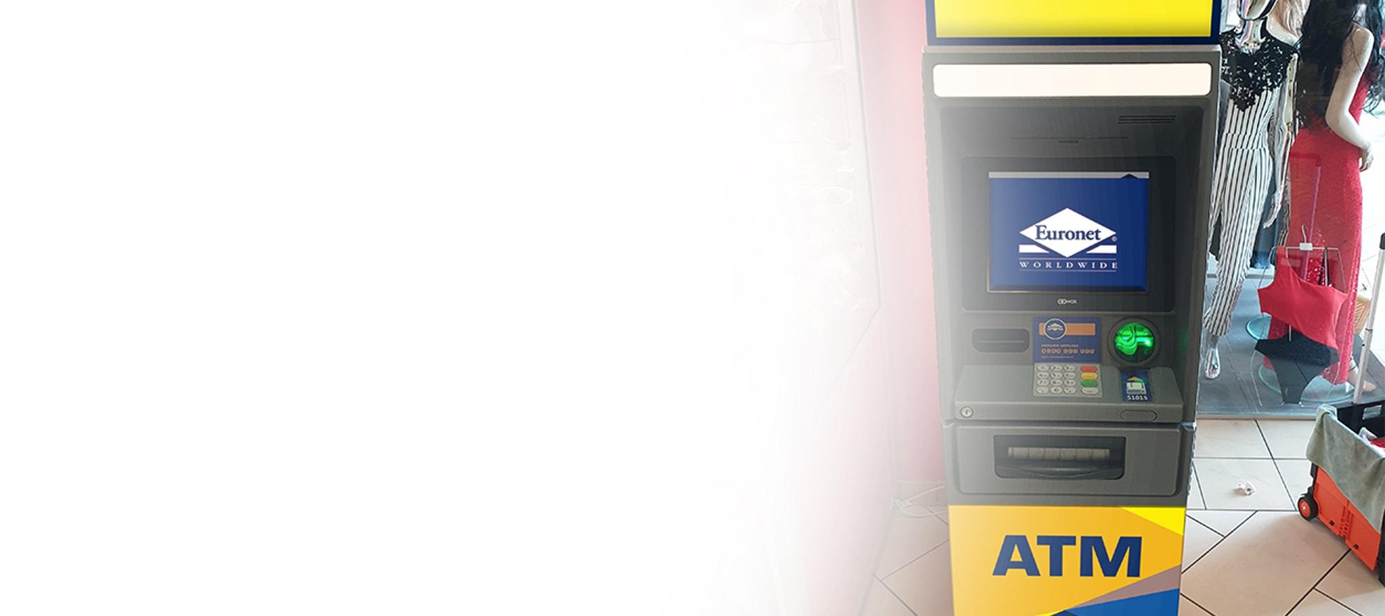 Ein Geldautomat von Euronet kann ein geschäftlicher Vorteil sein und bietet Ihren Kunden bequemen Zugriff auf Bargeld.