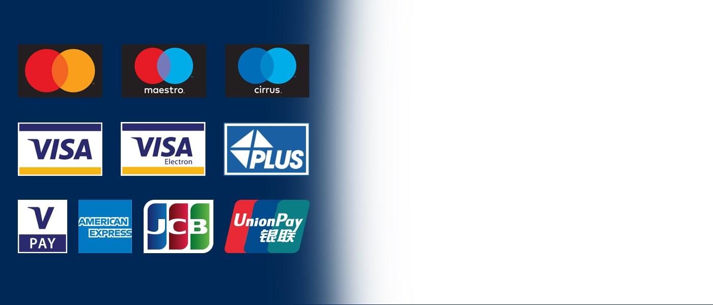 Euronet-Geldautomaten akzeptieren alle gängigen Karten